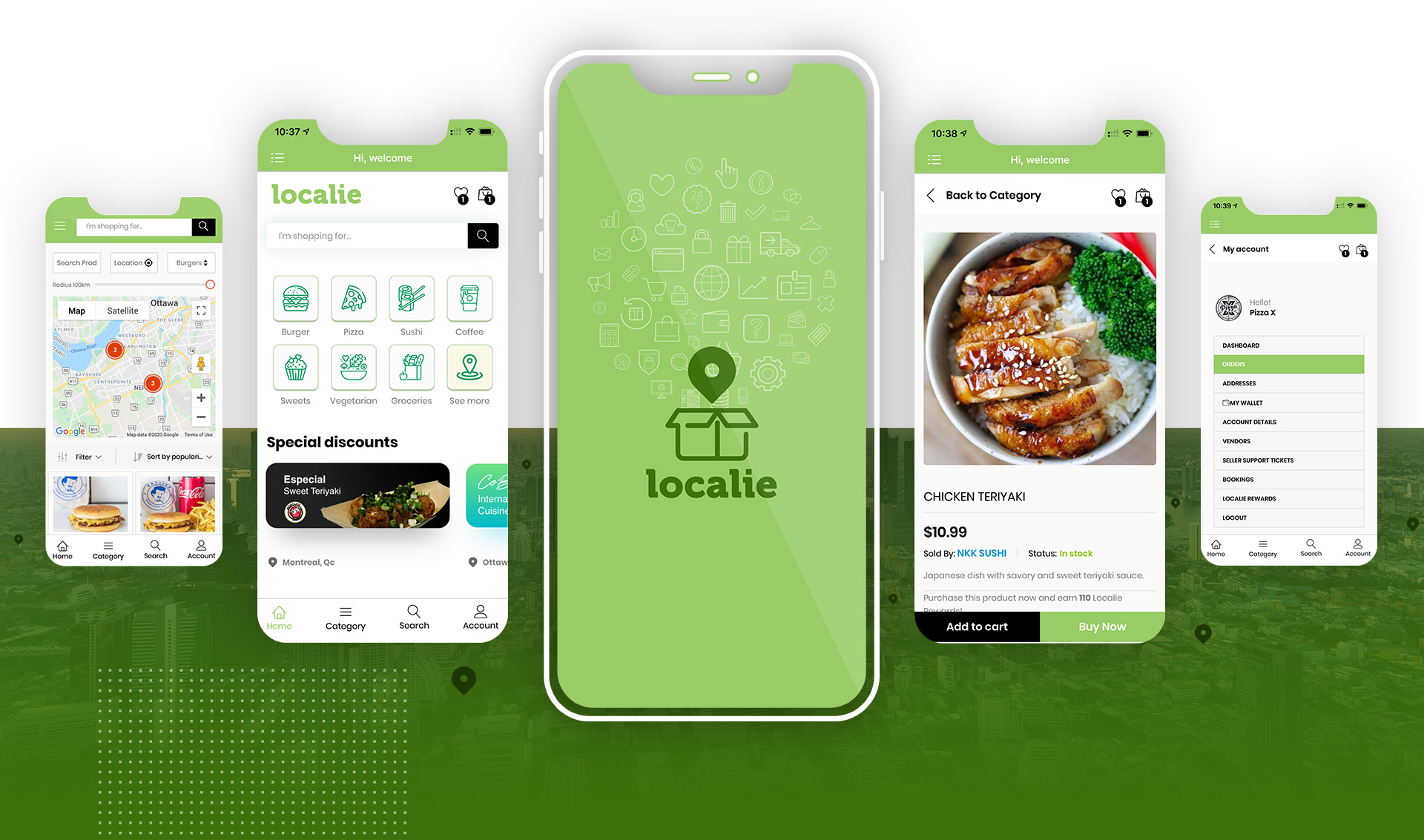 Localie - Canadian Order Delivery App - Local Pickup